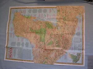 Maya World Map.Land Of The Maya Traveler S Map Ancient Maya World National