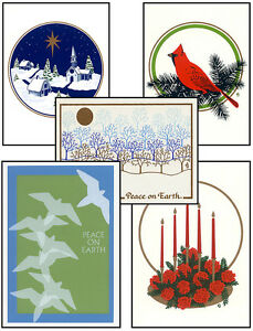 CHRISTMAS-Cards-HANDMADE-SILKSCREENED-in-VERMONT-5-Designs-Choose-FREE-SHIPPING