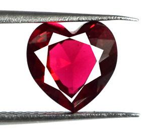 2-45-Ct-8-mm-Burma-Ruby-Heart-Shape-Gemstone-VS-Clarity-Natural-AGI-Certified