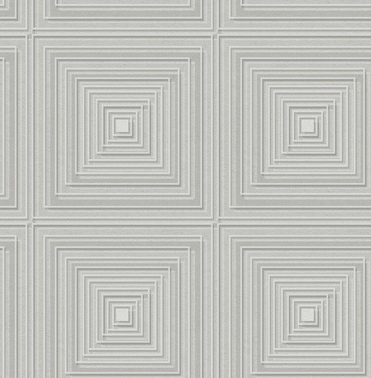 Tapete, Designtapete, modern, Karos, Linienprint, Glanz, Stein, Zement, Beton