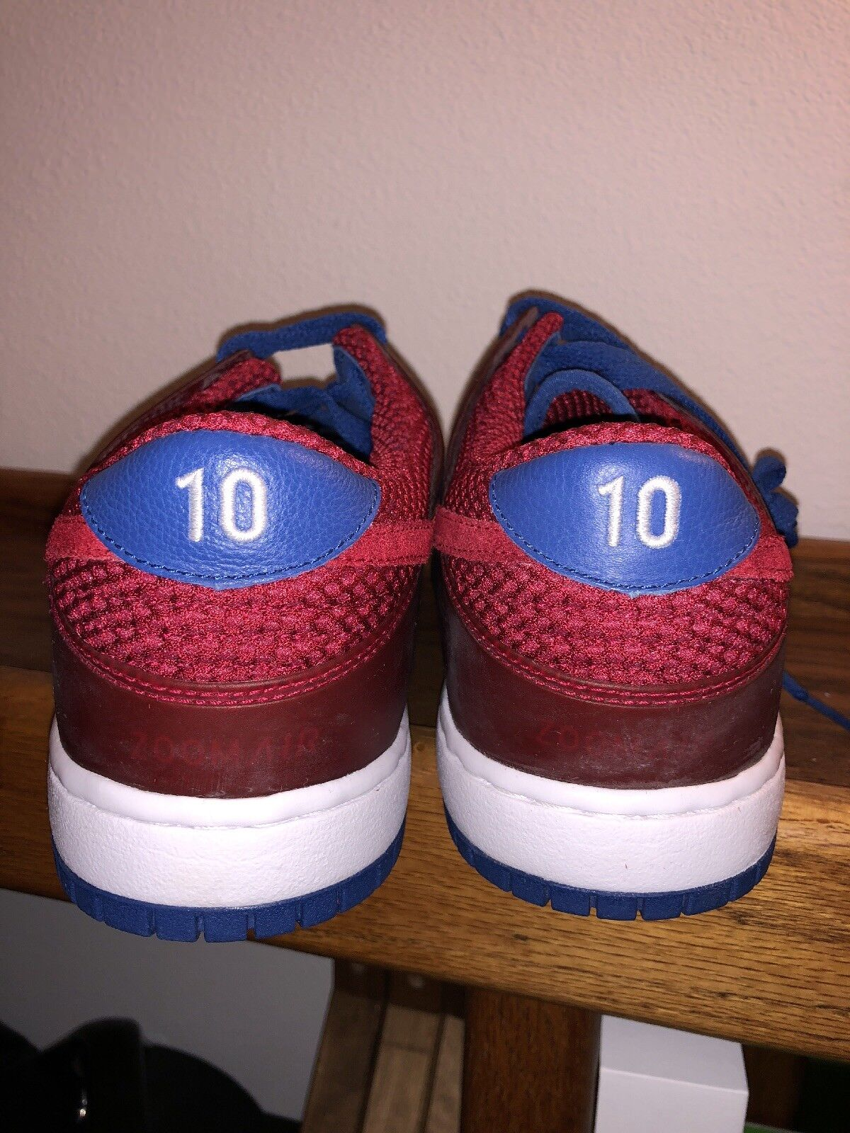detailed look edc0d b536d ... Nike Air Zoom Dunk low Ronaldinho Home colorway Red Blue Red Blue Red   ...