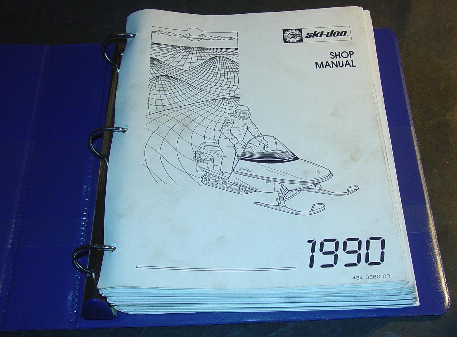 1990 SKI-DOO SNOWMOBILE SHOP SERVICE MANUAL P/N 484 0560 00 (459