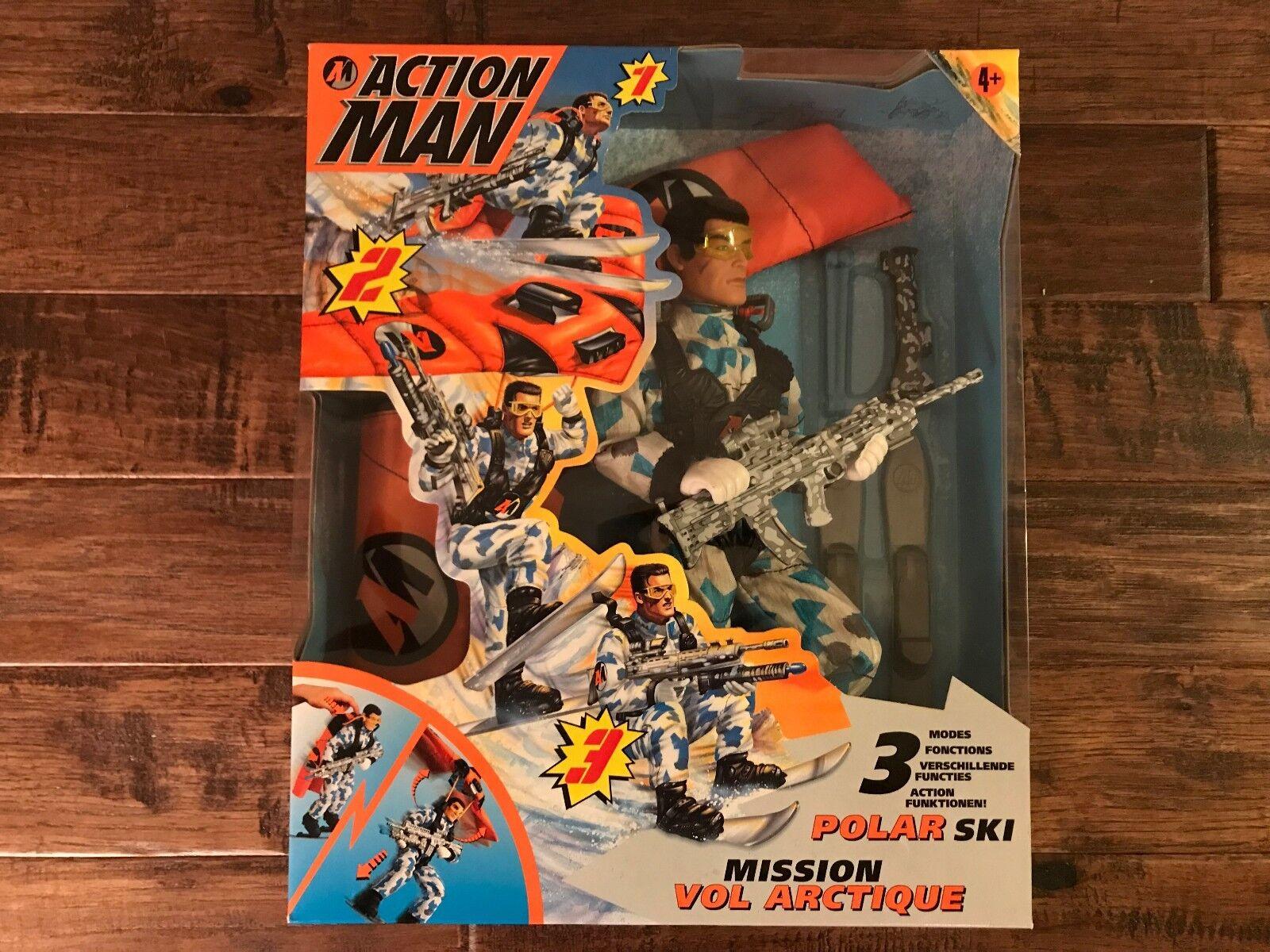 1999 (Hasbro)  ACTION MAN  (POLAR SKI MISSION) 12  Action Figure, NEW  RARE