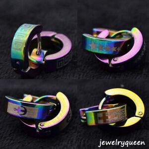 2-Pairs-Stainless-Steel-Hoop-Earrings-Set-Huggie-Earrings-for-Women-Men