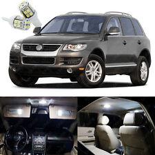 18 x Xenon White LED Light Package Deal For Volkswagen VW Touareg 2004 - 2010