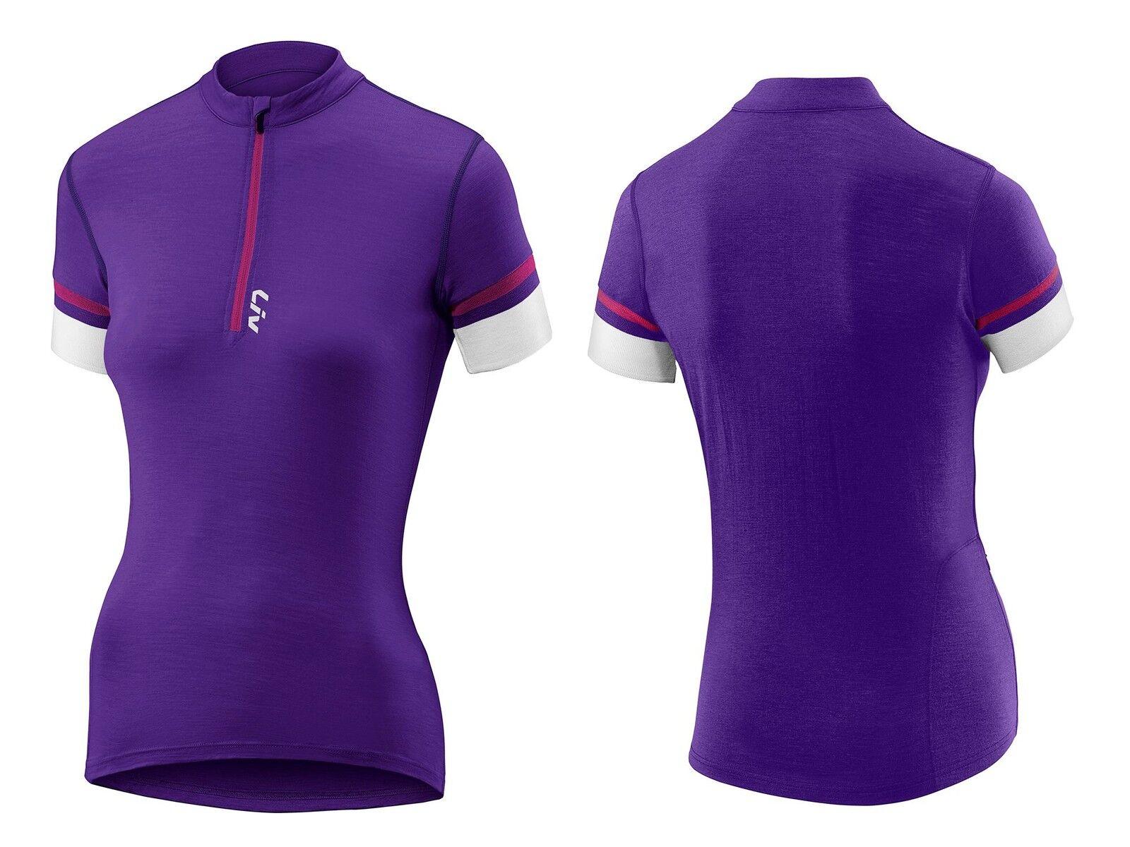 Gigante Liv Ricca Shortsleeve Merino Jersey Camiseta purple purple women Woman