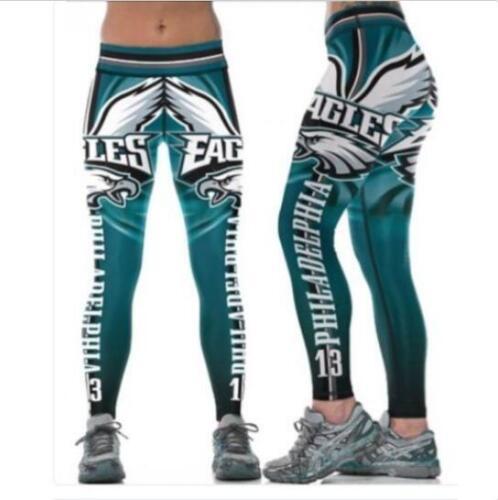 Legging Philadelphia Eagles No.13 printed high waist wide belt legging S-4XL 631