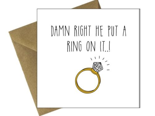 ENGAGEMENT WEDDING CARDS OCCASION Comedy Funny Humour Congratulations FR
