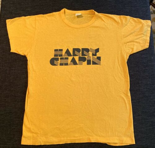 Vintage Harry Chapin Yellow T-shirt Cats In The Cr