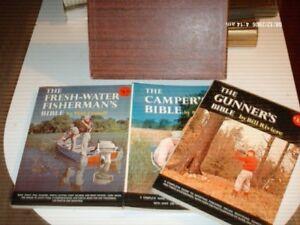Lot De 4 Livres Camper's Bible Eau Fraîche Du Pêcheur, L'artilleur's, Hunter's Bible-afficher Le Titre D'origine
