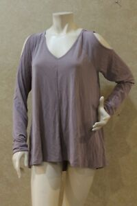 48e6aa5628041 Cupio Cold Shoulder Long Sleeves V-Neck Pullover Top Blouse Size M ...