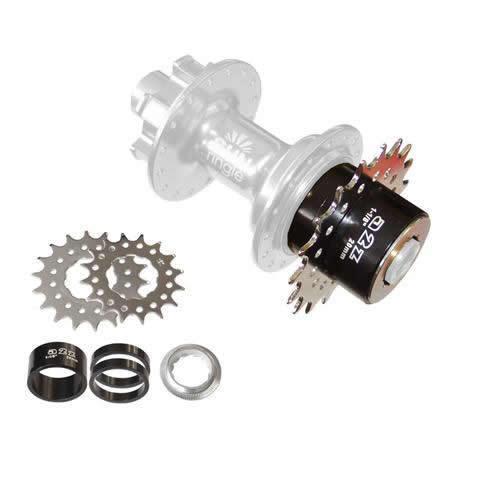 Single speed Adaptateur a2z roue libre steckaufnahme singlespeed Kit ad-One pignon