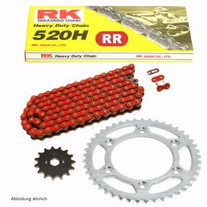 Chain-Set-Honda-VTR-250-09-11-Chain-RK-Fr-520-H-104-Open-Red-14-41