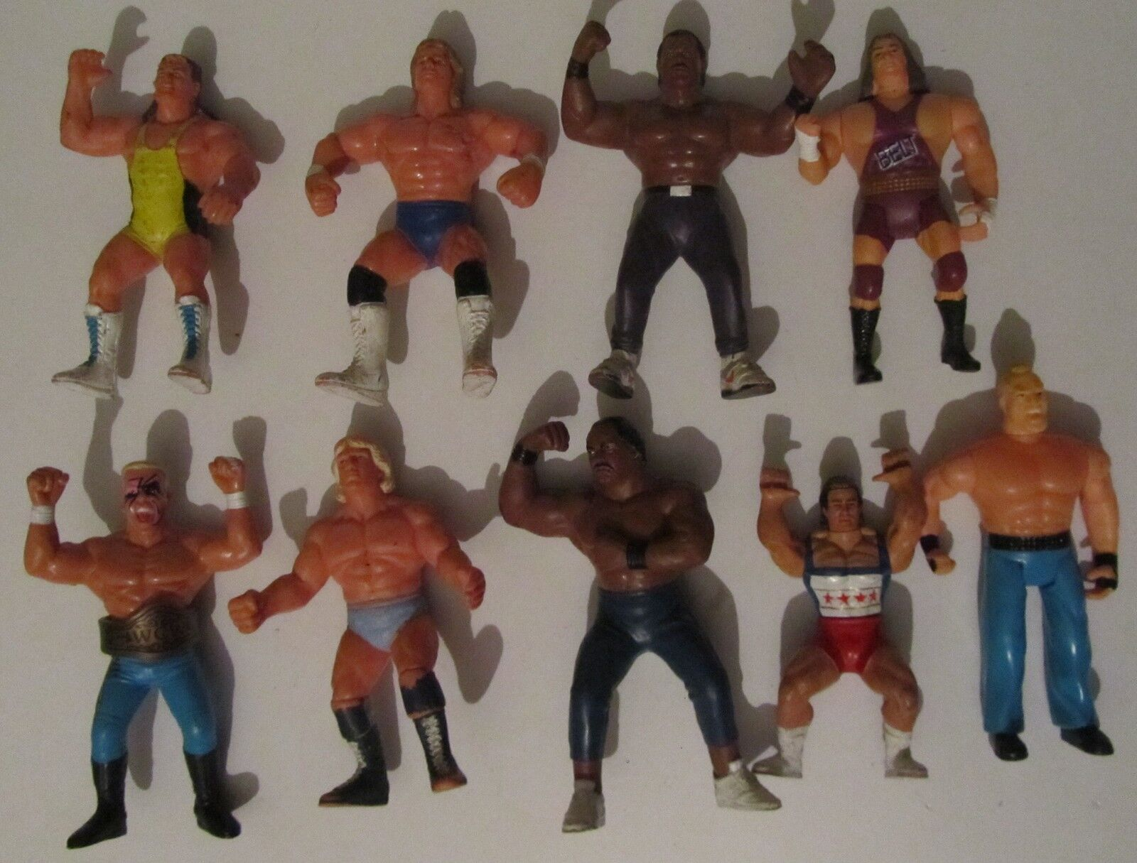 Lotto 9 Wrestler Galoob e vari Vintage Wrestling wwf action figures