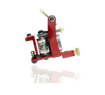RED PROFESSIONAL TATTOO MACHINE for power supply gun pedal & clip cord QUALITY