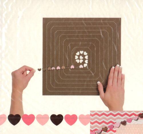 BABY GIRL HEARTS FLUTTERBYS scrapbooking PRE-MADE PAPER GARLAND