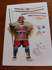 Large Collectors Postcard - Samurai Warrior with Yari 1550-1600 - NEW
