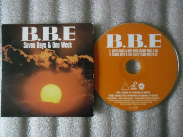 CD-BBE-SEVEN DAYS & ONE WEEK-DANCE ELECTRO-EMMANUEL TOP-(CD SINGLE)-1996-2 TRACK
