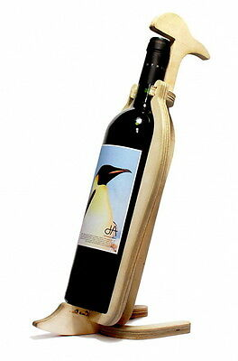 Conte Bleu Penguin Animal Bone Series Wine Rack Wooden Table-top Bottle Holder