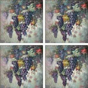Grape-Art-Accent-amp-Decor-Tile-Set-Taite-Ceramic-Backsplash-POV-FPT007AT