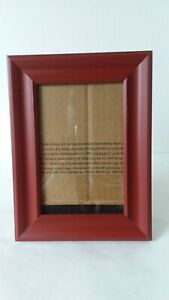 Red-Clay-Tone-Wood-Picture-Frame-3-1-2-034-x-5-1-2-034