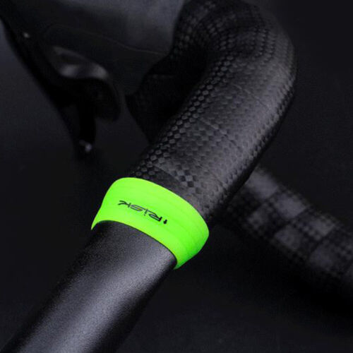 MTB Road Cycling Bike Fixing Ring Gel Silicone Handle Bar Grip Tape Accessories