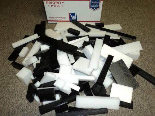 White /& Black sheet /& block 100 Plastic Delrin// Acetal Assorted Lot pieces CNC