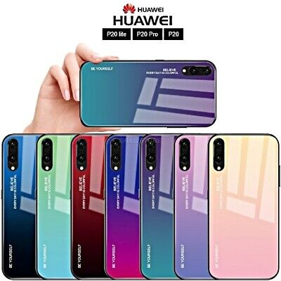 Cover for Huawei p20 Lite/Pro Original Gradient Glass with Back Tempered Glass | eBay