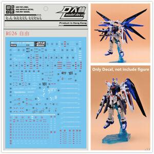 SnowFire MG 1//100 ZGMF-X10A Freedom Ver 2.0 Gundam Model Kit Water Slide Decal