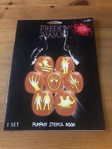 Details About Freddy Vs. Jason Halloween Pumpkin Stencil Book Horror  Slashers NEW
