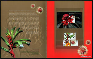 2006-Wildflowers-Embossed-Minisheet-Post-Office-Pack-Australia-Mint-Stamps
