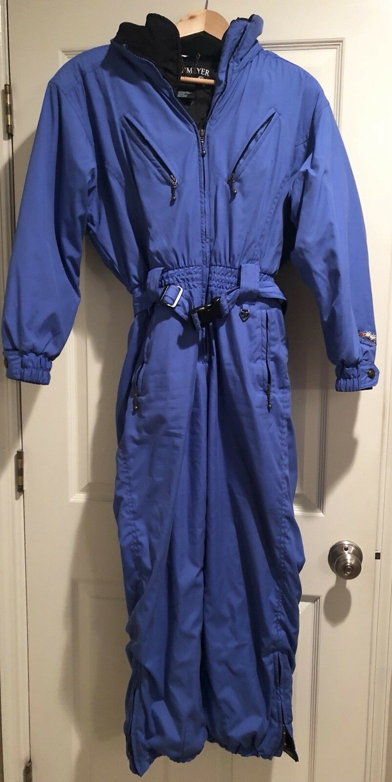 Obermeyer Vintage Women's Snowsuit Thermolite bluee Size Ladies Petite 8
