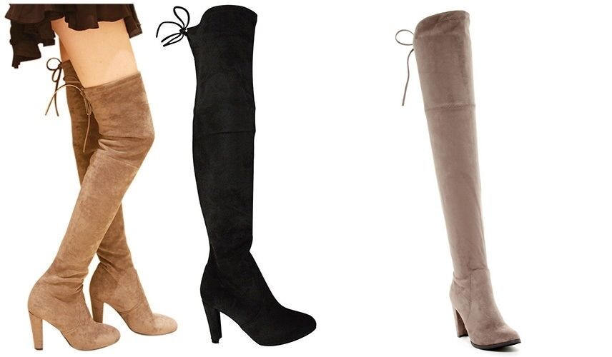 Catherine Malandrino Boot Over The Knee Boot Sorcha Stiefel Taupe 8.5M
