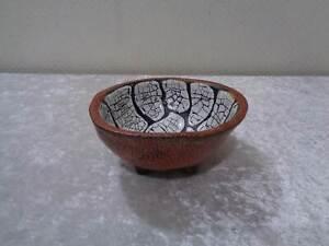 Artist-Ceramic-Bowl-Sign-Midcentury-Design-Schrumpfglasur-Roister-Vintage