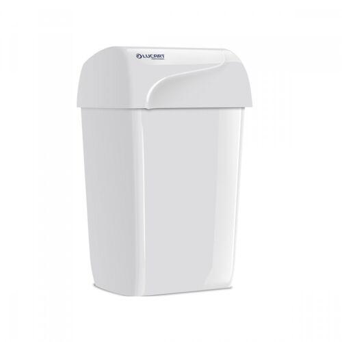 Papierkorb Mülleimer Abfallbehälter schwarz oder weiß aus Kunststoff 43 Liter