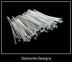 440-Pcs-30mm-Silver-Plated-Head-Pins-Jewellery-Bead-Craft-Findings-T135