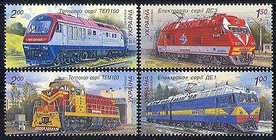 Ukraine 2010 Trains/Rail/Transport 4v set (n28724)