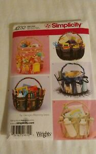 Oop-Simplicity-Georgia-Lewis-4232-bucket-organizer-gift-craft-fabric-covers-NEW