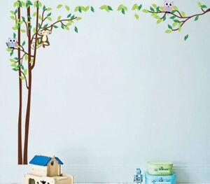 Wandtattoo Kinderzimmer Foto Eulen Baby Spielzimmer Tiere Wald Blume ...
