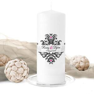 Hochzeitskerze-Damask-inkl-Personalisierung-Hochzeit-Traukerze-Trauung-Ornament