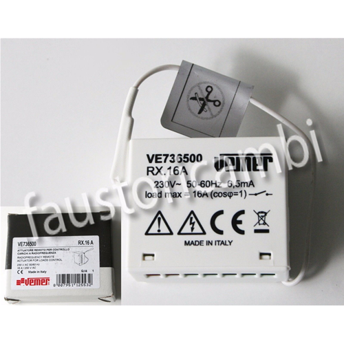 VEMER REMOTE ACTUATOR FOR PC CONTROL UNIT RF8 RF1 RADIOFREQUENCY VE736500 RX16A