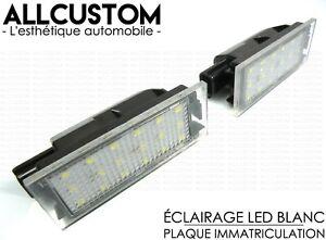 LED-ECLAIRAGE-BLANC-XENON-PLAQUE-IMMATRICULATION-pour-RENAULT-TWINGO-2-II-07-14