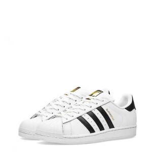 Details zu Adidas Schuhe Superstar C77124_ Superstar Weiß Unisex Leder Neue  Turnschuhe
