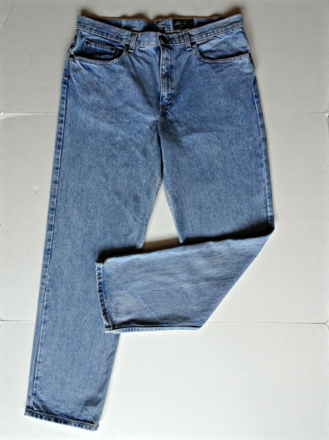 Eddie Bauer Classic Fit Blue Jeans Mens 36 X 32 L Denim Pants W36 L32 Light Wash