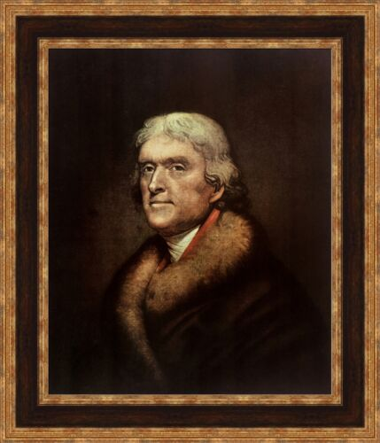 "V13-44 Rembrandt Peale Thomas Jefferson Framed Canvas Giclee Print 23/""x27/"""