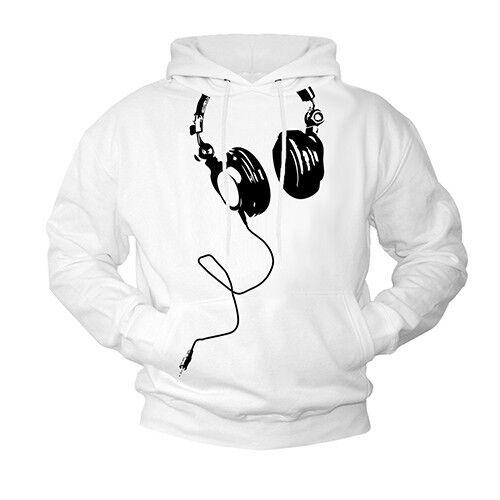 MUSIC HOODIE SWEATSHIRT NERD HEADPHONES DJ PULLOVER HOODED SHIRT GEEK THEORY NEW