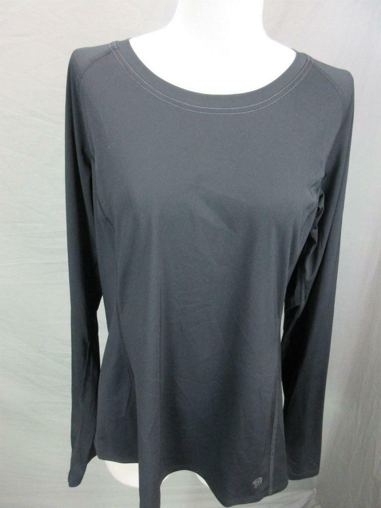 Mountain Hardwear Size L Womens Black Athletic Long Sleeve Jersey T-Shirt T967