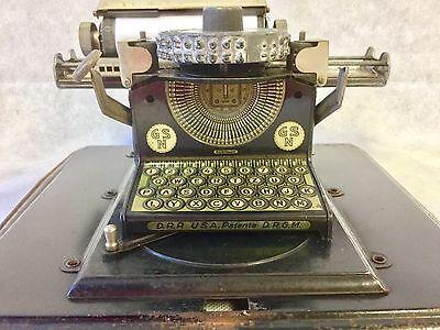 1920s Antique German GSN Gebrüder Schmidt Junior Black Tinplate Toy Typewriter