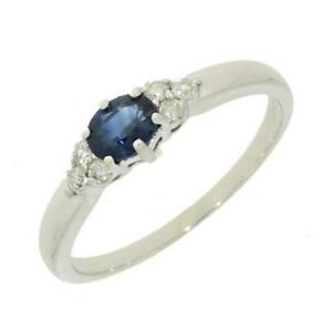 Ladies-Diamond-Ring-9ct-White-Gold-Sapphire-And-Diamond-Dress-Ring-CH882