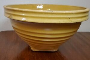Vintage McCoy Yellow mixing Bowl with Square Base